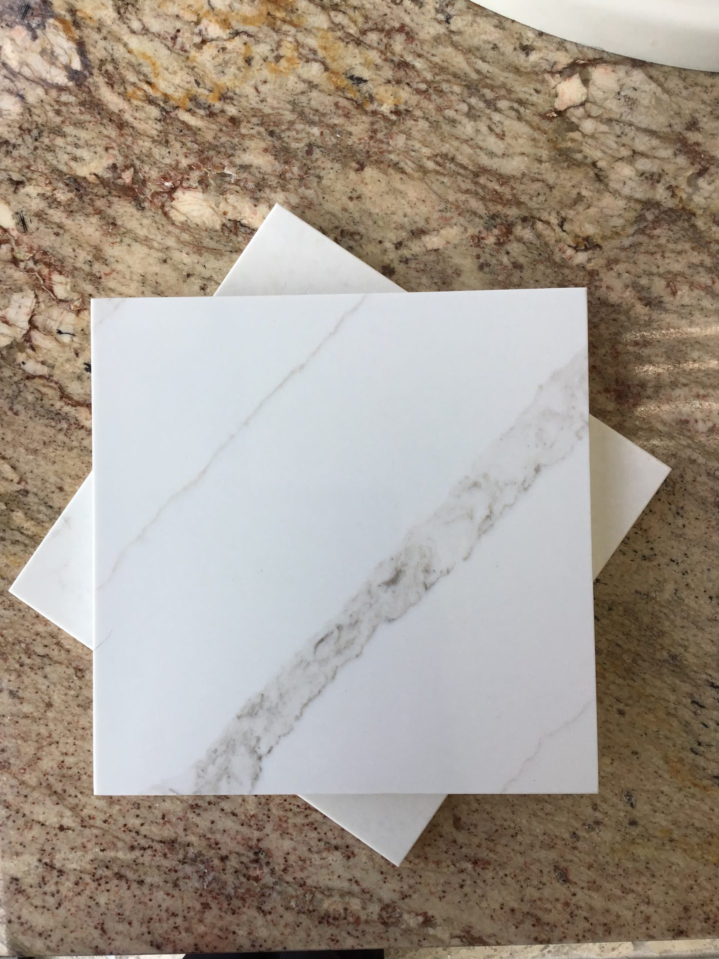 "Quartz material ""C"" Now on sale this week for $32/sf. Material only while supplies last! Slab size 65""x130"""